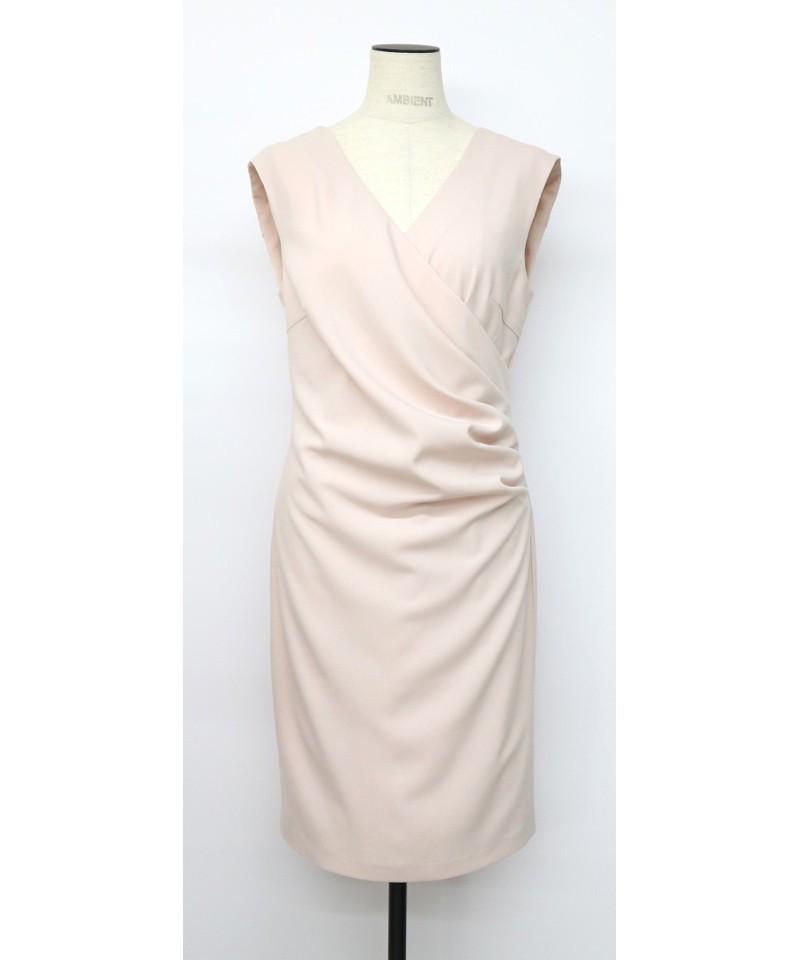 両Vドレープドレス