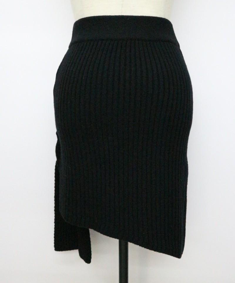 リブデザインニットスカート