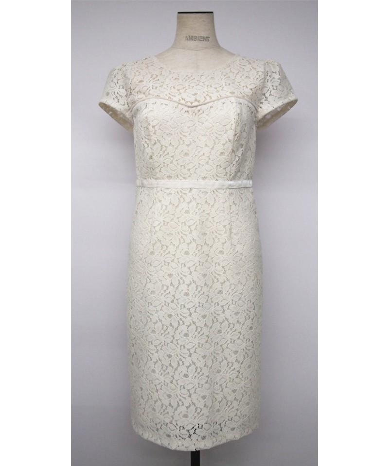 ベロアレースドレス