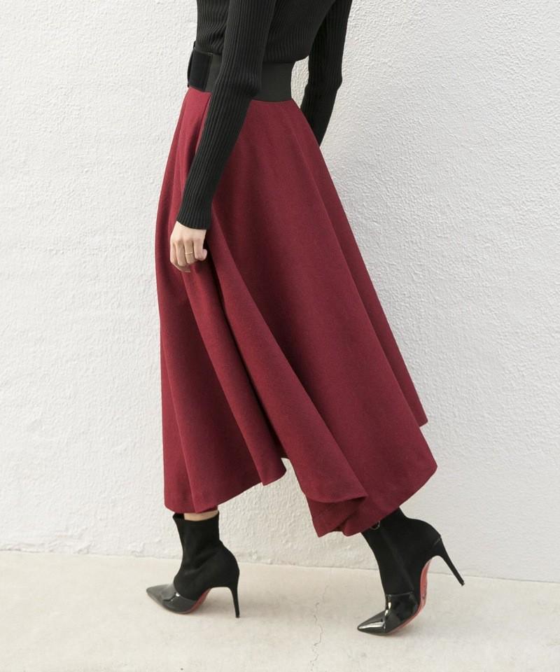 ウールアシンメトリースカート