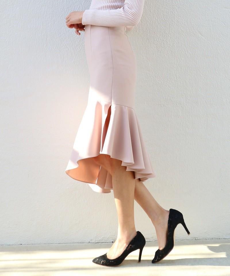 アシンメトリーマーメイドスカート