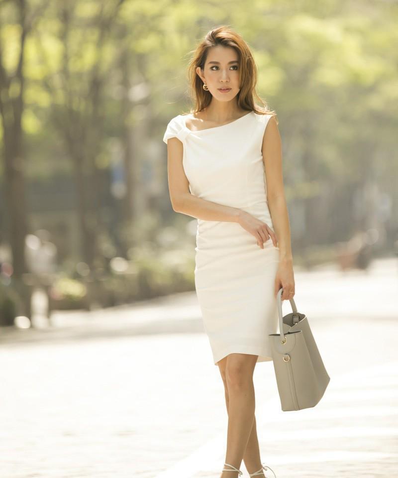 《DRESS FAIR》アシンメトリーネックドレス
