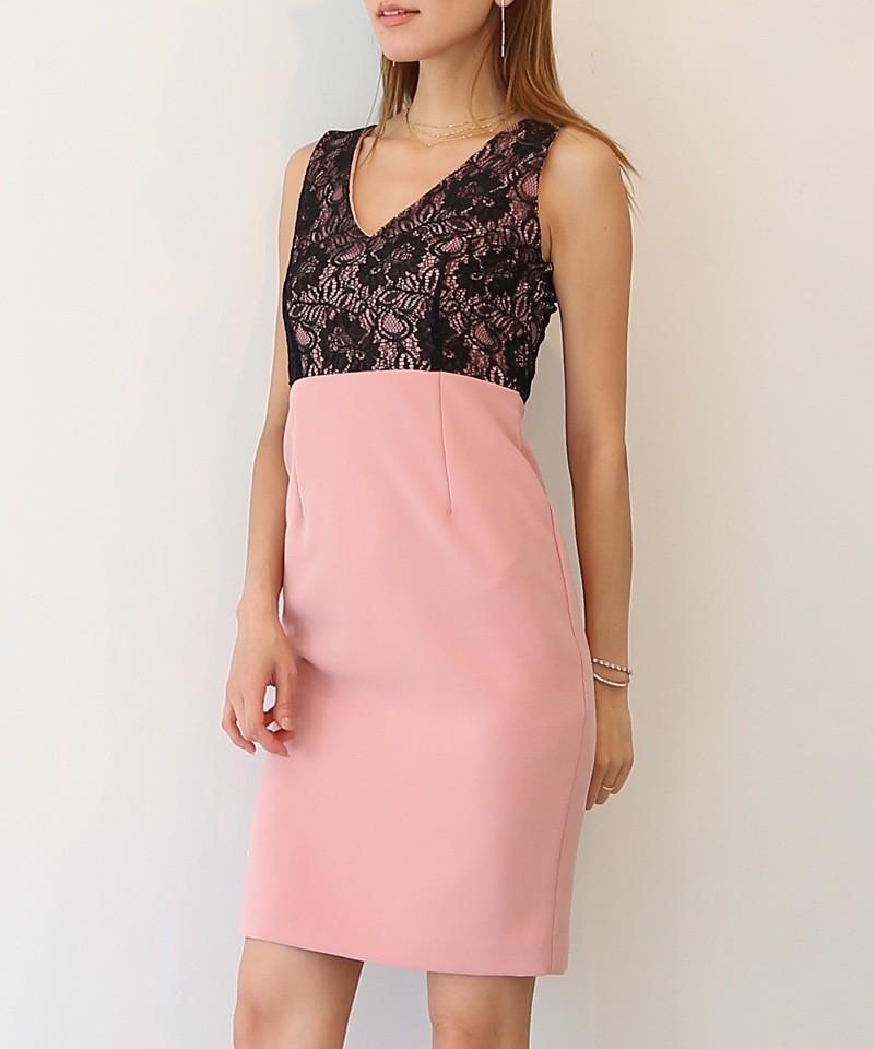 ラメレースドレス