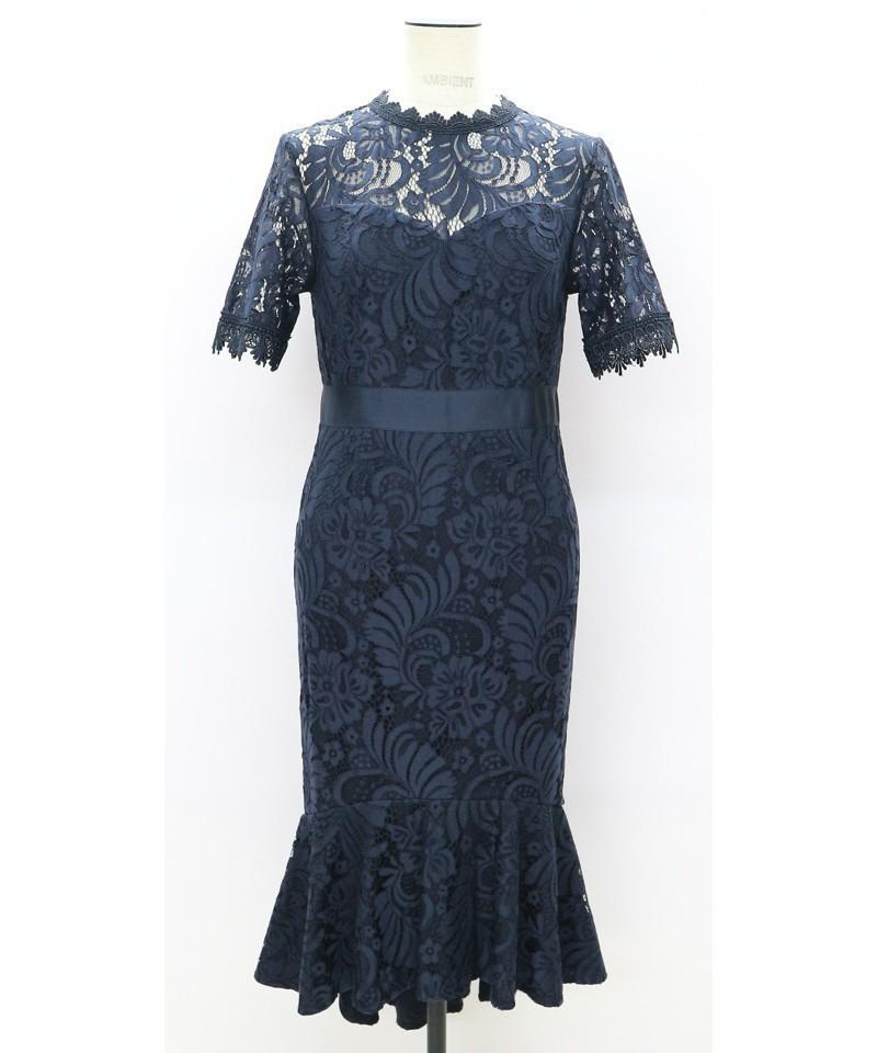 コードレースマーメイドドレス