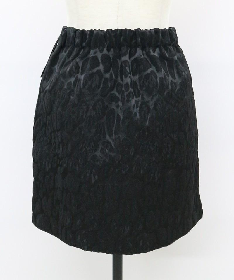 ジャガードレオパードミニスカート