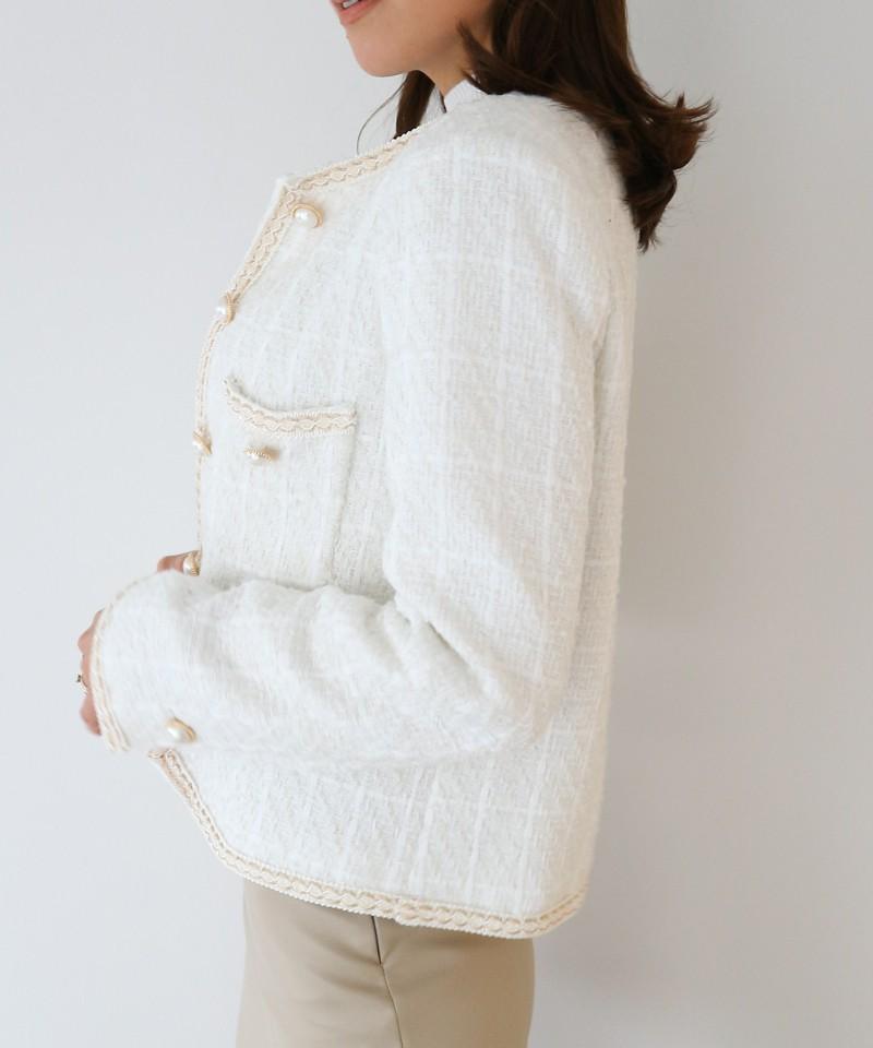 ツイードパイピングジャケット