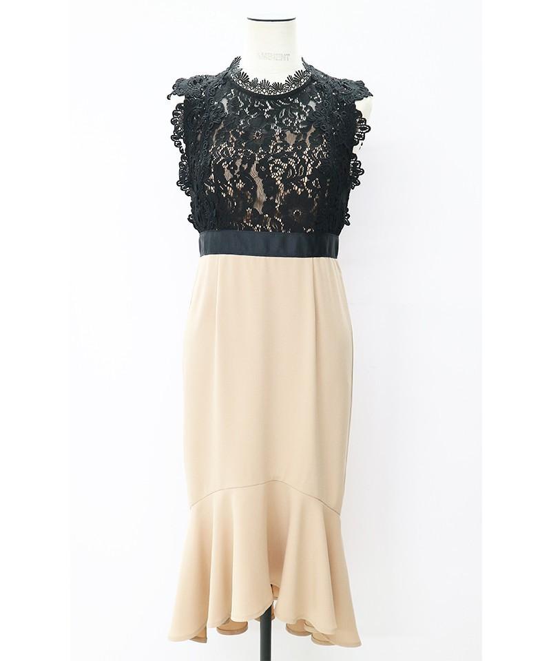パネルレースマーメイドドレス