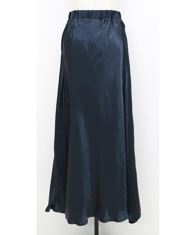 シャイニーサテンマキシスカート