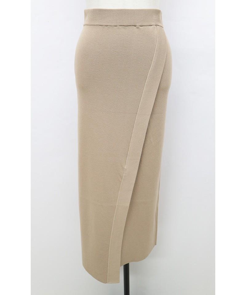 ディープスリットニットスカート